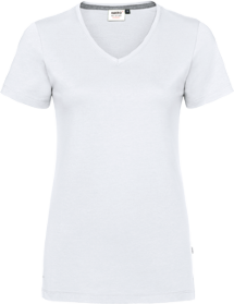 Hakro® Damen V-Shirt Cotton-Tec 169 / weiß