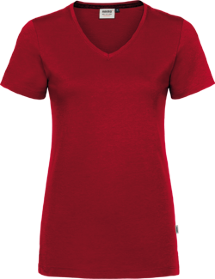 Hakro® Damen V-Shirt Cotton-Tec 169 / rot