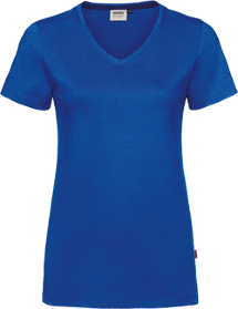 Hakro® Damen V-Shirt Cotton-Tec 169 / royalblau