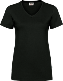 Hakro® Damen V-Shirt Cotton-Tec 169 / anthrazit
