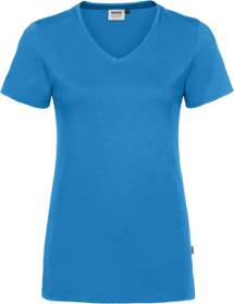 Hakro® Damen V-Shirt Cotton-Tec 169 / malibublau