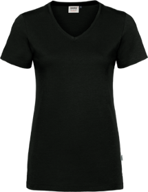 Hakro® Damen V-Shirt Cotton-Tec 169 / tinte