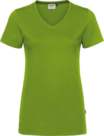 Hakro® Damen V-Shirt Cotton-Tec 169 / kiwi