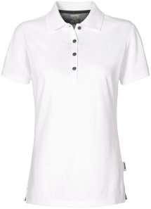 HAKRO Damen Polo 214 Cotton-Tec, weiß