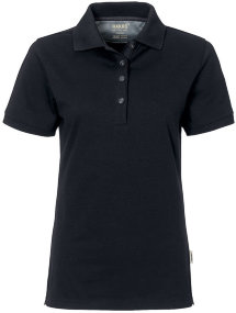 HAKRO Damen Polo 214 Cotton-Tec, schwarz