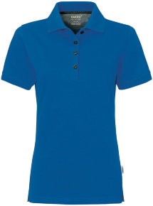 HAKRO Damen Polo 214 Cotton-Tec, royalblau