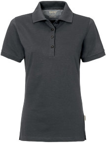 HAKRO Damen Polo 214 Cotton-Tec, anthrazit