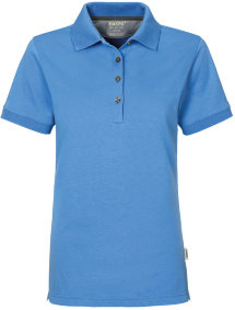 HAKRO Damen Polo 214 Cotton-Tec, malibublau