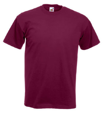 Fruit of the Loom T-Shirt Super Premium, burgund
