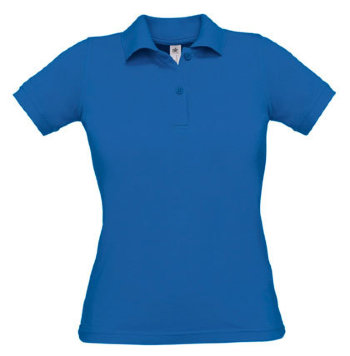 B&C Damen Polo Safran, royalblau