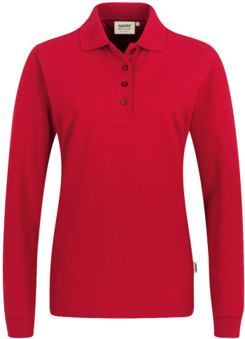 HAKRO Damen Polo 215 Langarm Performance, rot